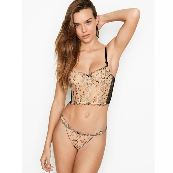 DREAM ANGELSWicked Unlined Embroidered Bra Top